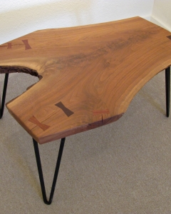 TABLE (Walnut with Inlays) 0973